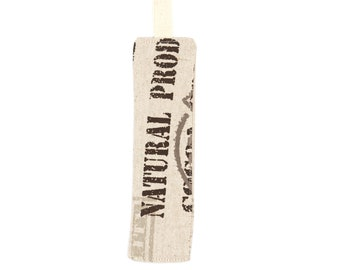 Cocoa printed patternd fabric bookmark
