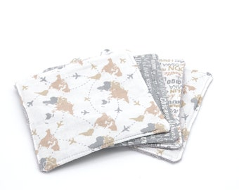 Lot of 4 organic bamboo sponge wipes 3 different patterns