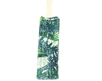 Brand-page in fabric pattern tile green palms