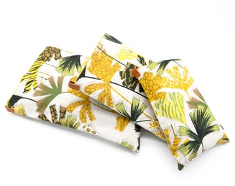 Book pouches all sizes palm pattern
