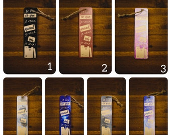 Wood bookmark and vinyl pattern what I want