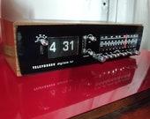 Vintage 1970s Telefunken Digitale 101 Flip Clock Radio Alarm Made in Germany