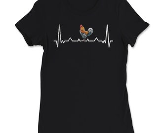 Han and Chickens Lovers Heartbeat Gift T-Shirt