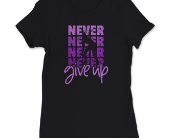 Field Hockey Never give up cool saying T-Shirt