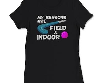 Field Hockey Seasons Field + Indoor T-Shirt