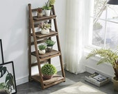 45 quot Foldable Ladder Shelf Plant Stand