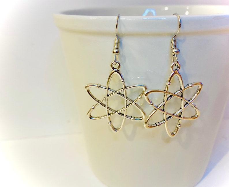 Atom earrings