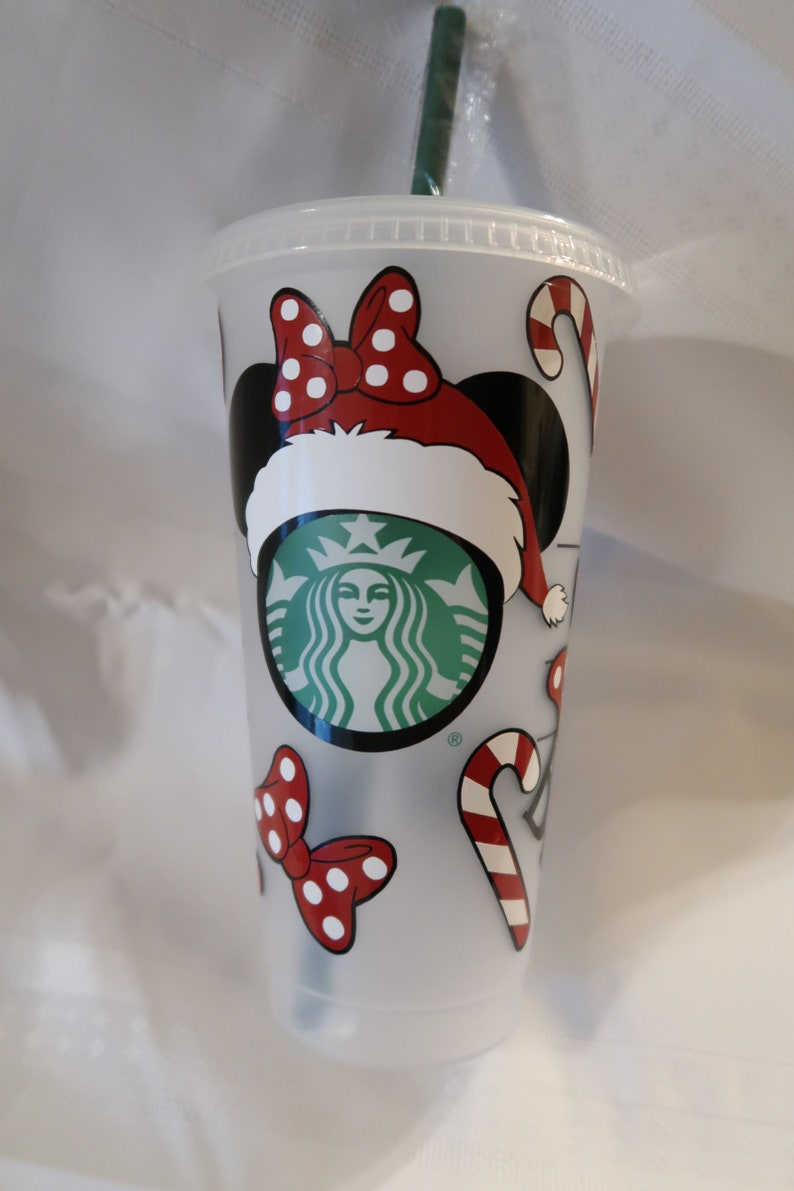 Minnie Candy Canes /& Bows Christmas Cold Cup.