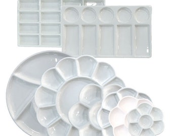 Glazed Ceramic Palette for Watercolor Painting or Calligraphy