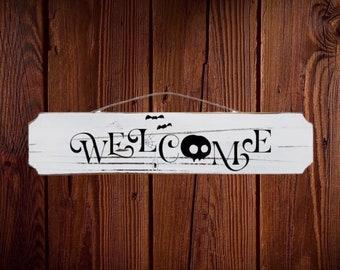 Halloween welcome sign