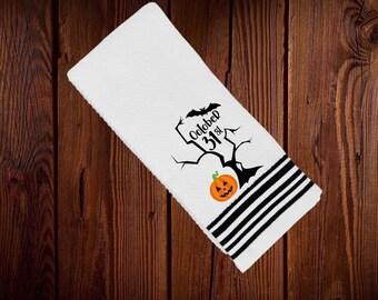 Spooky Halloween kitchen towel