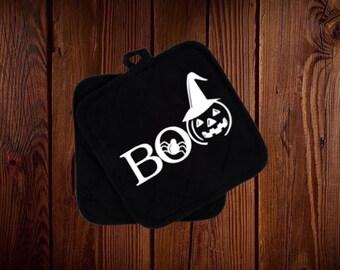 Boo Halloween pot holder