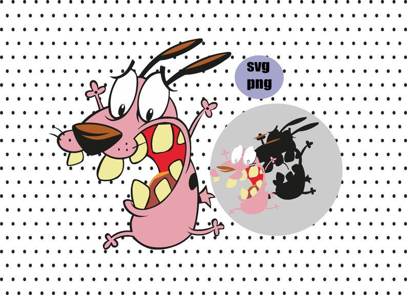 LAYERED Svg Cut File Cartoon SVG, Courage The Cowardly Dog svg png