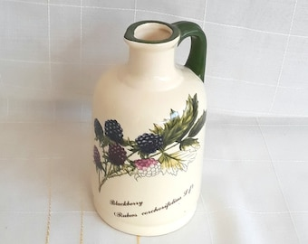 French Majolica  Porcelain China Oil and Vinegar Bottle decanter Set Kitchen  Mid century Vintage Gastronomy
