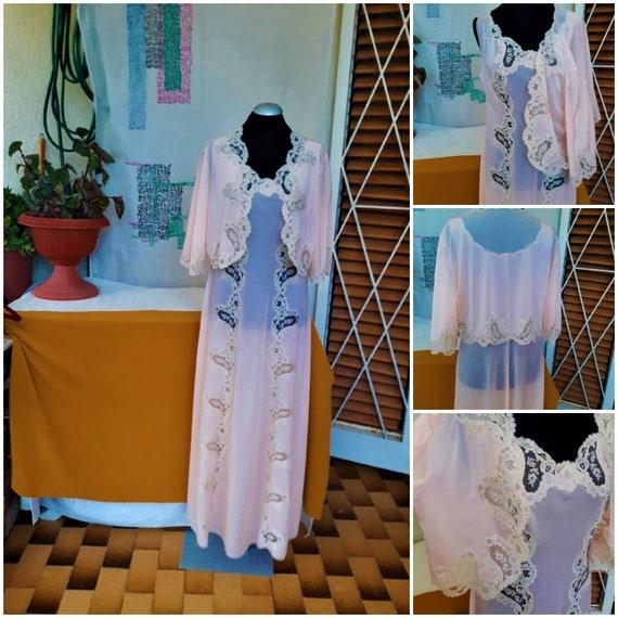 Gorgeous Vintage Night Dress Italy 70s Nightdress