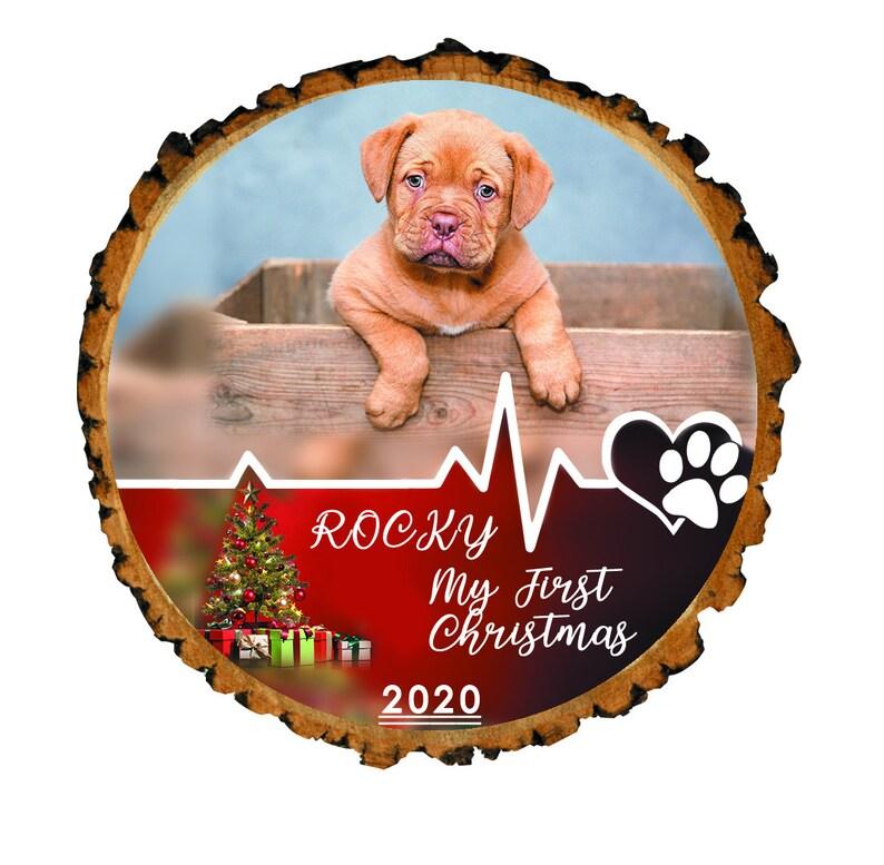 Personalized Pet Picture Ornament Pet Dog First Christmas Puppy Christmas First Christmas Ornament