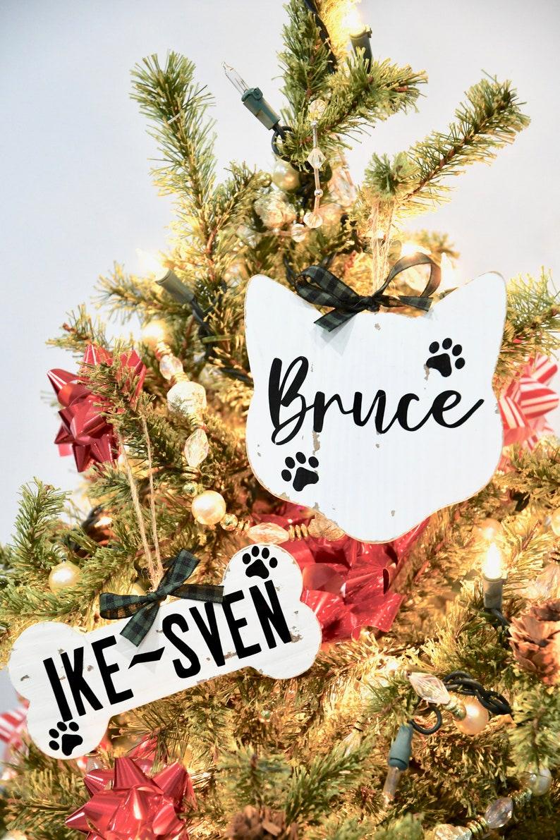 Custom Ornaments Custom Wood Cat Ornament Kitten Ornament Personalized Pet Gift Pet Ornament Farmhouse Cat Ornament Cat Ornament