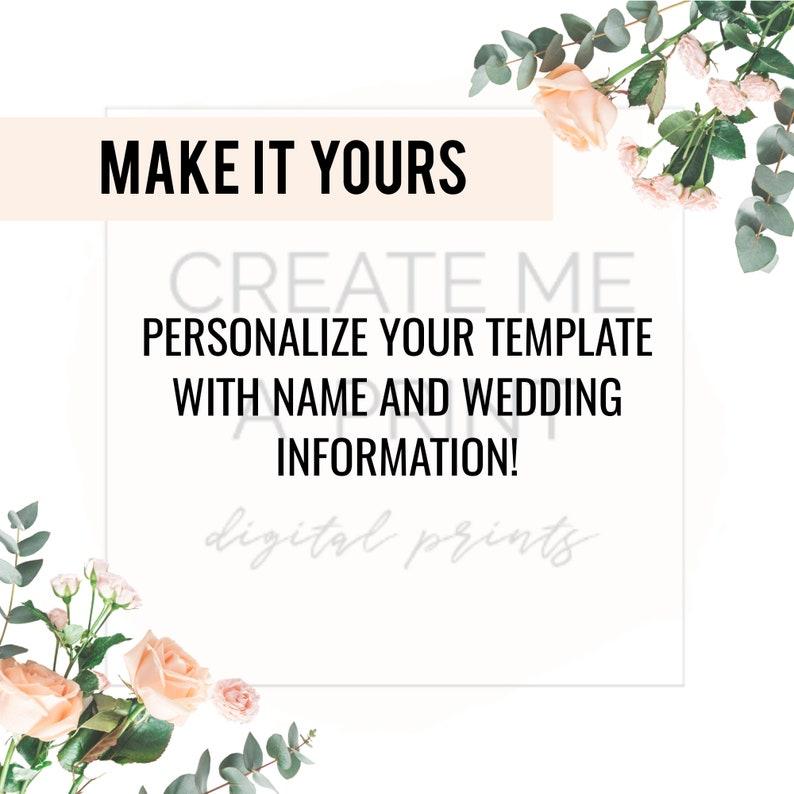 Digital Instant Access Floral Eucalyptus Wedding Invitation for Mobile Mobile Teal Floral Edge Editable Wedding Invitation Modern Floral