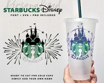 Personalised Starbucks Disney Design | Presized | Digital Download | SVG PNG | Disney | Mickey Mouse | Holiday | Christmas Starbucks | Xmas