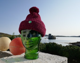 Hand Made on Barra - Knitted Hat with Barra Badge