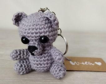 Amigurumi Keychain Polar Bear/ Teddy Crocheted
