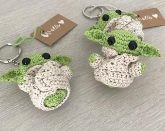 Keychain - Crochet Baby Yoda/ Grogu