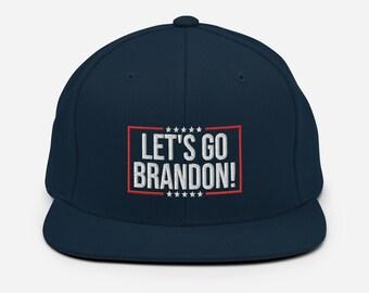 Lets Go Brandon Snapback Hat - F Joe Biden Chant Cap - Anti Biden Hat
