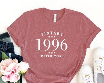 1996 t shirt 1996 birthday 25 years old 25 shirt 1996 shirt 25th Birthday Shirt funny 25th birthday gift 25th Birthday Gift