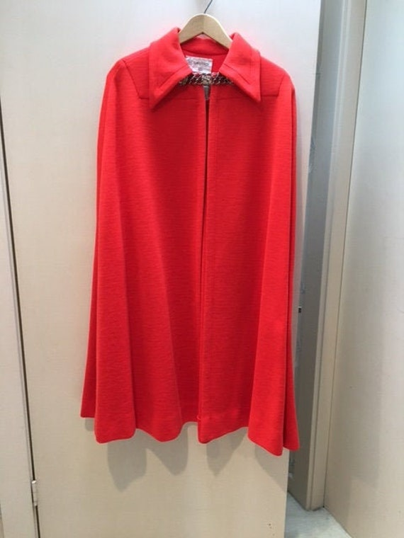 Vintage Kimberly Red Cape 1960s