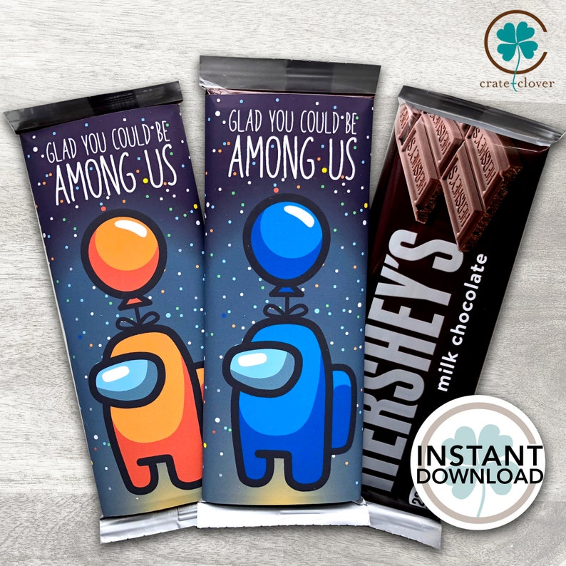 Among Us Party favor | Chocolate Bar Wrapper