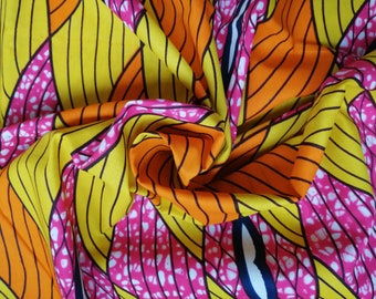 African fabric by 45 centimeters - 100% cotton - ankara wax fabric - loincloth
