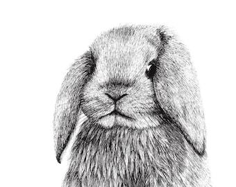 Rabbit illustration - Giclée print