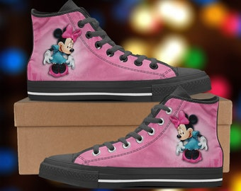 Minnie mouse converse shoes | Etsy