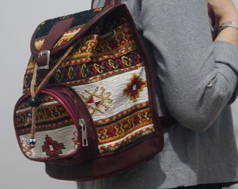 Authentic Bags Boho Bags Antique Bags Ethnic Bags Carpet Bags,Hippie Backpacks Small Backpack Bag for Women Rug Bags