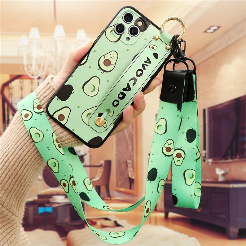 iPhone Case Wrist Strap Case For iPhone 12 mini 11 11Pro SE 2020 7 8 Plus 6 6s 5 For iPhone 12 11 Pro X XR XS Max Flower Neck Lanyard Etui