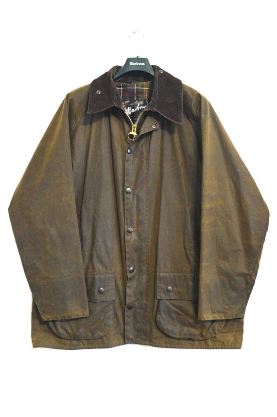 Vintage Barbour Beaufort Waxed Jacket Brown A830 S