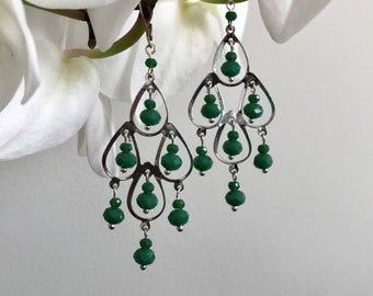 ROMY Silver earrings with adaptable colored beads on clips