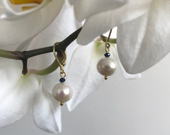 GRACE Water pearl earrings, timeless and trendy - adaptable on Clips