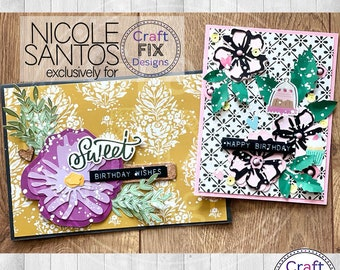 Watercolour Watercolor Flowers for Greeting Card and scrapbooks Resizable Cutting File for Cricut and Silhouette SVG DFX