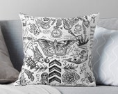 Harry - All Tattoos - Pillow case, Pillow Cover, Decoration Pillow case, Halloween Pillow, Christmas Pillow, Humor, joke Pillow Case
