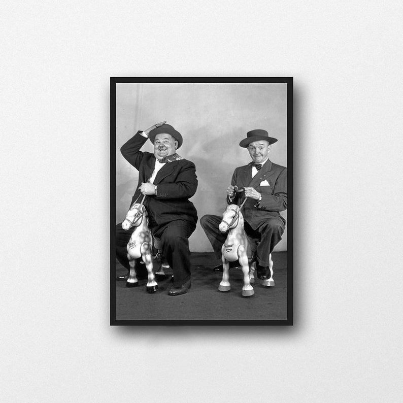 actor poster Art canvas painting poster print image wall living room decoration frameless Stanlaurel and OliverHardy