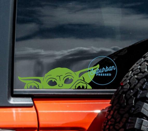 Baby Yoda Car Sticker Grogu Decal Baby Yoda Car Decal Etsy