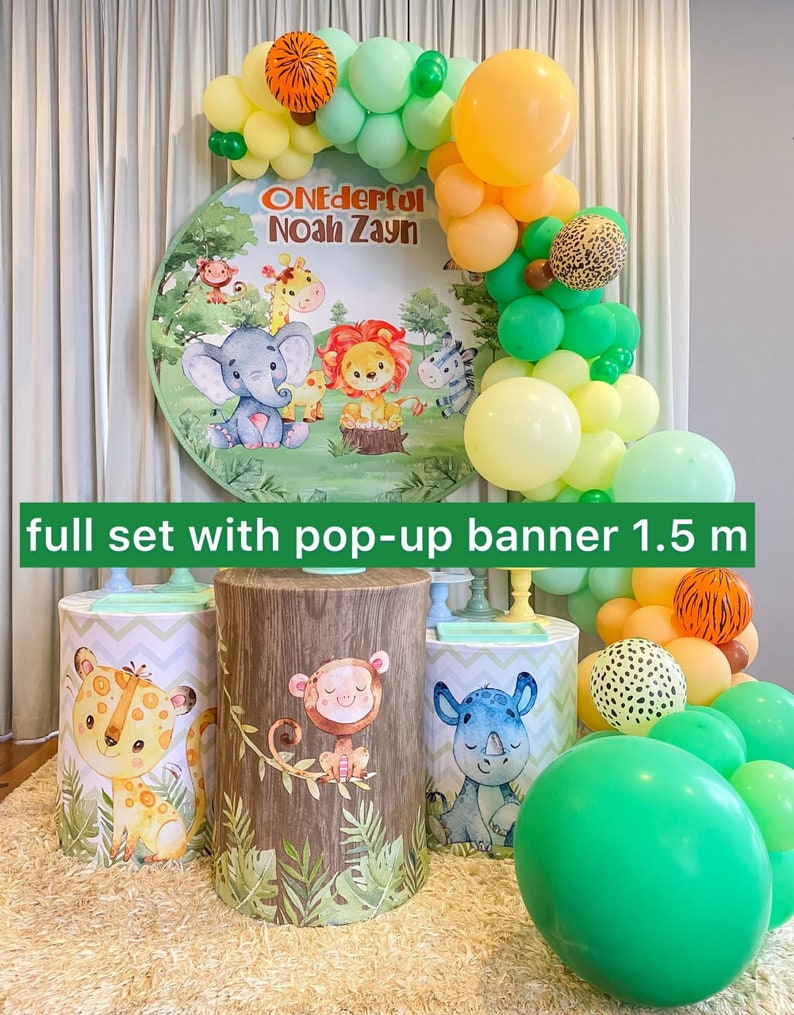 baby baptism Birthday round fabric backdrop Banners,Photography custom Newborn 1 year background stand party decor PRINTED