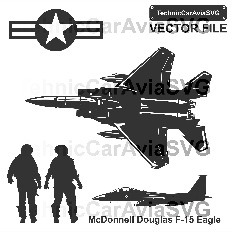 Mcdonnell douglas f 15 mini skirts Mcdonnell Douglas F 15 Eagle Svg Cut File Plane Svg Etsy