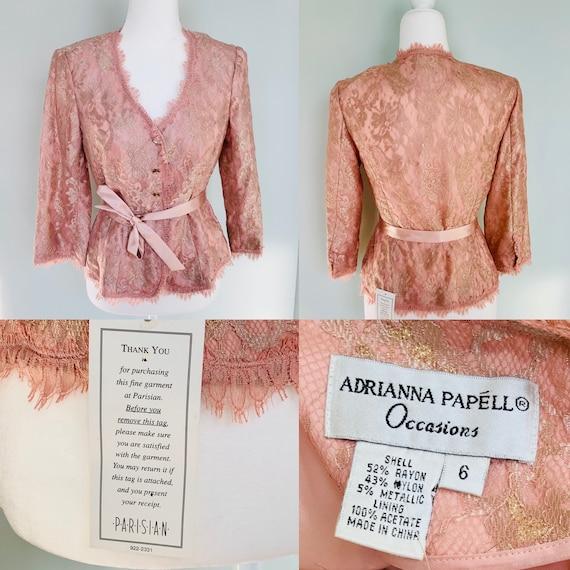1980's-1990's pink laced blazer