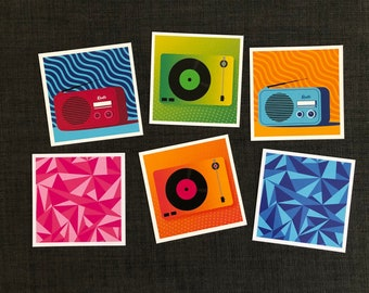 Music and street art postcards pack