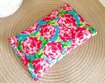 Bright Floral Herbal Heating Pad for Migraines, Period Cramps, Muscle Aches, Back Pain | Flaxseed and Lavender Herbal Heating Pad