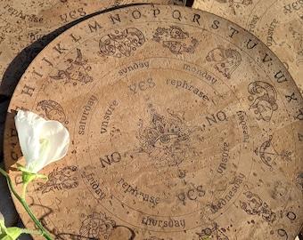 Pendulum Board • Pendulum Dowsing • Eco Friendly Witch Pendulum Grid Divination Mat made of Vegan Leather • Dowsing Board Divination Cloth