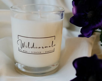 Peony & Blush Suede scented Soy Candle - 100% Vegan