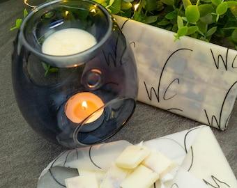 Smoke Grey & Pearlised blush Grey Glass - Wax Melt Burner Starter Kit